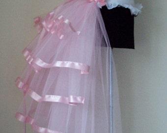 Baby Pink  Burlesque Bridal Bustle Belt size XS S M L XL