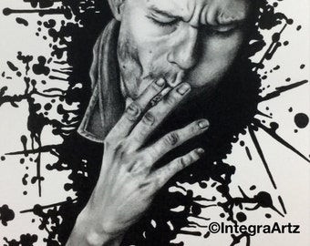 Signed Art Print, Graphite, 'Inspired by Heath'