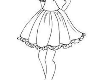 julie nutting stamp Lady elegance skirt