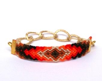 Chunky Chain Friendship Bracelet. Sunsubiro.