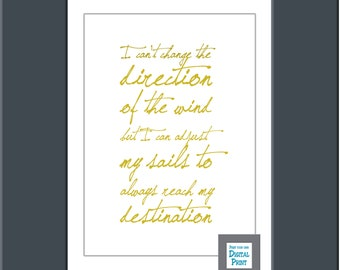 Inspiration quote, quotation print, wedding gift,
