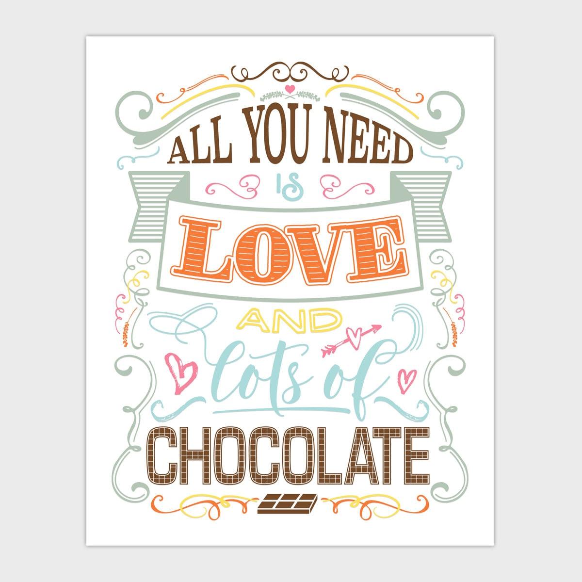 Chocolate Wall Art Kitchen Decor Chocolate Lover Gift