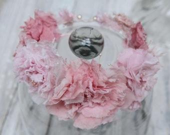Silk roses crown