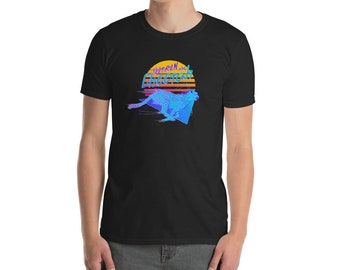 OUTRUN the Cheetah 80s inspired retro synthwave graphic T-Shirt
