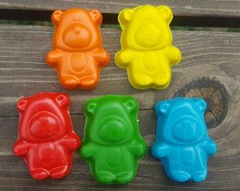 Teddy bear crayons set of 20 - Teddy Bear Party Favors - Teddy Bear Party Favors - Kids Party Favors - Gifts For Kids - Kids Gifts - Crayons