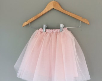 Girl's Tulle Skirt- ballet pink tutu- birthday skirt- toddler tulle skirt