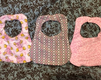 Baby Girl and Boy Bibs - Under the Sea, Mermaid, Submarine, and Sea Turtle Fabric - Personalization Option - Flannel Bibs- 2 pack