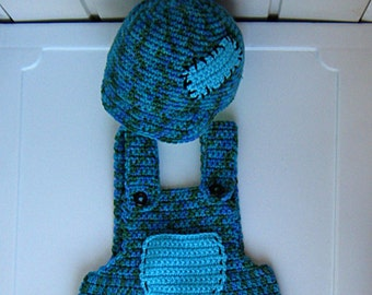 Set for children, Children's pants crochet, crochet hat for a child,  knitted baby kit,  baby gift, from 6 to 16 months, Ready to ship.