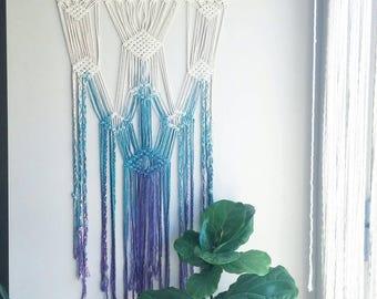 Macrame Curtain- Macrame Wall Hanging~ Bohemian Furniture~ Boho Wall Decor~ Wedding Decor~ White Wall Accent- Bohemian Decor- Bedroom Decor