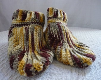Crocheted Womens Slippers Size 7 to 8
