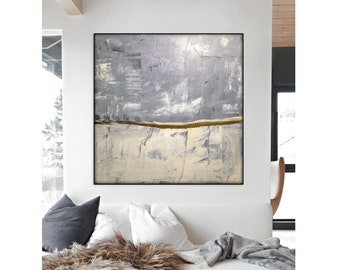 Extra Large Abstract Painting Large Wall Art Large Painting Abstract Artwork Abstract Canvas painting Minimalist art abstract 48x48 painting