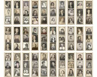 photobooth ephemera reproduction photo strips portraits