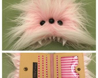 Heebie Jeebie Small Pink Furry Bi-Fold Wallet