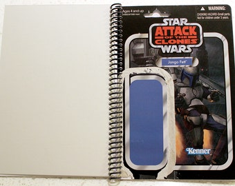 Jango Fett Recycled Vintage Style Star Wars AOTC Notebook/Journal