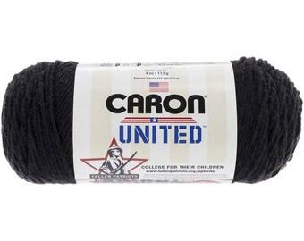 Acrylic Yarn Black Caron United Yarn 6006