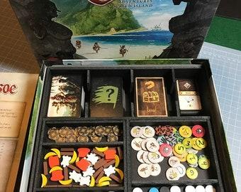 Robinson Crusoe board game foam custom Insert