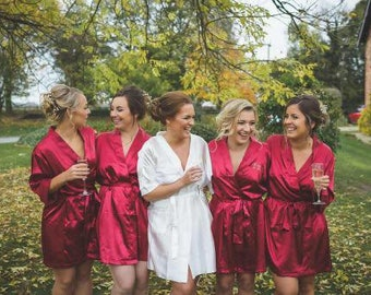 satin bridal party robes wedding robes for women silk bridesmaid robes for bridesmaid gift bridal robe for bride robe set of 6 4 5 6 7 8 9