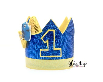 Birthday Hat-first birthday crown-Dory headband-Dory outfit-Dory birthday-Dory headband-Dory Crown-birthday crown
