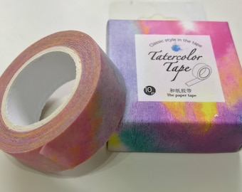 Tie dye Washi tape, pretty washi tape, rainbow washi tape, watercolour washi tape, mixed media, scrapbooking, bullet journal, planner