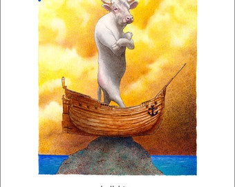 Will Bullas / art print / bullship... / humor / animals / bull