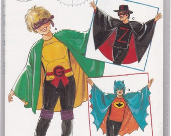 FF Batman Costume, Zorro Costume, Kids Costumes Sewing Pattern, Halloween Costume, Size 4 6 8 10, Burda 4359, UNCUT