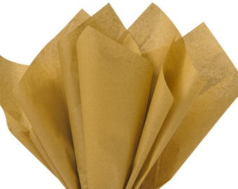 Antique Gold Tissue Paper . 20 x 30 inches . 24 sheets