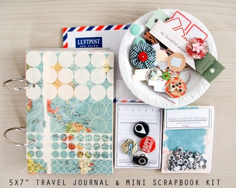 Travel Mini Journal / Album & Scrapbook Kit