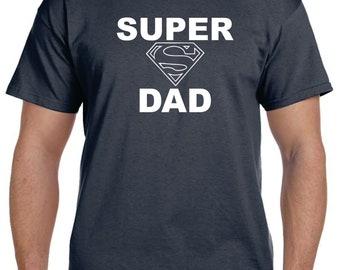 Gifts For Dad Shirt SUPER DAD Shirt Dad Gifts T-shirt Tshirt Fathers Day Gift Mens Cool Shirts Christmas