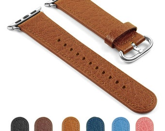 DASSARI Textured Finish Leather iWatch Band Strap for Apple Watch 38mm 42mm
