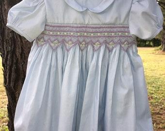 Smocked Girl's Dress 6 month