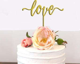 Wedding Cake Topper, Love Wedding Cake Topper, Personalized Cake Topper, Bride and Groom, Custom Wedding Cake Toppers, Cupcake Topper