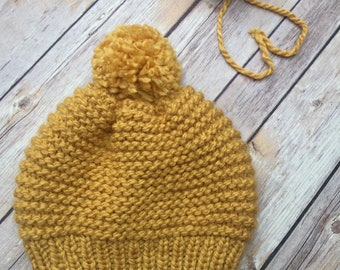 Child's / Toddler size Hat - Yellow - Fall - 2t