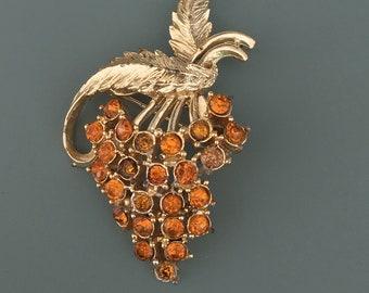 Vintage Grape Cluster Brooch