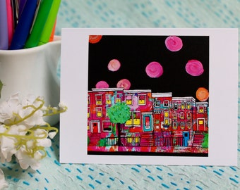 Starry Night over Brooklyn Note Cards
