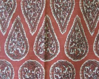 ANYA GERANIUM  designer/decorator/drapery/bedding/upholstery ikat fabric