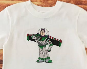 Buzz Lightyear Birthday Shirt, Buzz Lightyear, Buzz Lightyear Shirt, Toy Story Birthday Shirt, Buzz Birthday, Buzz Shirt, Embroidered