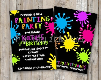 Paint Party Invitation *DIGITAL FILE*