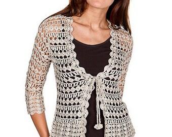 Crochet cardigan PATTERN, summer cardigan tutorial, trendy crochet cardigan pattern, cardigan PDF pattern, cardigan charts