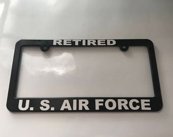 Retired US Air Force License Plate Frame