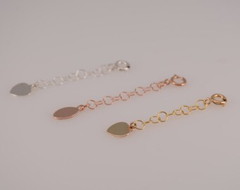 Extension chain. Extender chain. Add on  Sterling silver extension chain. Gold filled extension chain. Rose gold filled extension chain