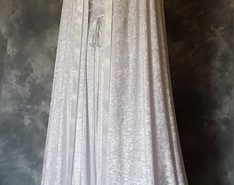 Medieval Cloak and Dress,Handfasting Dress and Cloak,Elvish,Renaissance,Pagan,Pre Raphaelite,Custom Made Wedding Gown and Cloak.