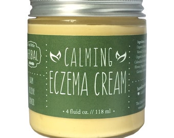 Eczema Cream, Eczema Relief, Soothing Organic Herbs, Itch Relief, Skin Repair, Sea Buckthorn Oil