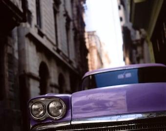 Vintage Classic Car, Old Havana, Cuba, Signed Fine Art Print / Cuban Vintage Car Photography / Havana Photo
