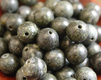 8, 6, or 4 mm Round Russian Serpentine Beads