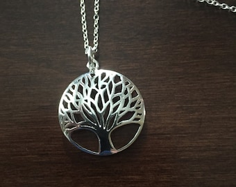 Tree of Life, Silver Tree Necklace, Tree Necklace, Tree Jewelry, Tree Pendant, Silver Tree, Tree, Silver Necklace, Necklace