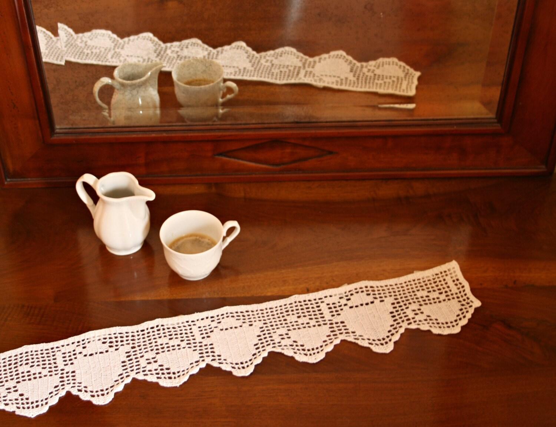 Crocheted Filet Lace Trim Italian Kitchen Ornament Crochet