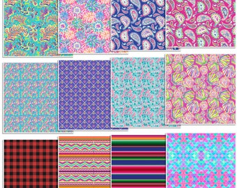 "12"" x 12"" Oracal 651 Patterned Vinyl - 12 Sheet Assorted Pack by Sparkle Berry"