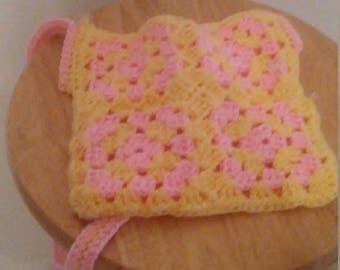 Pink and yellow bag