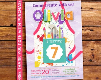 Pottery Party Invitation / Pottery Birthday Party Invitation