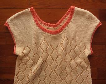 women's vintage peach knit top